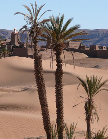 Kasbah on the edge of The Sahara