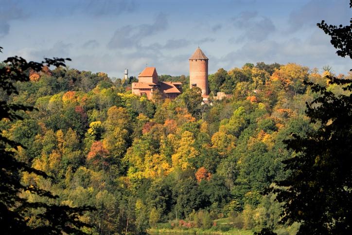 Turaida castle in Sigulda, Latvia, Baltic states - very famous tourism destination
